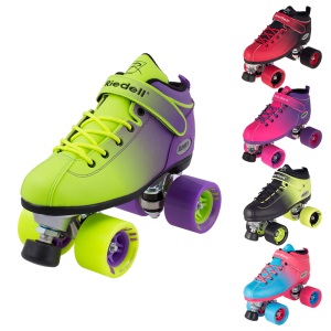 group product shot of Riedell Dart Ombre skates