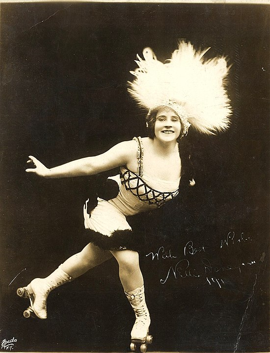 Vintage photo of artistic skater Nellie Donegan